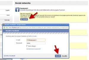 Condividere email su Facebook