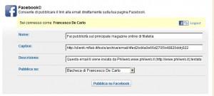 Condividere email su Facebook con Mailforce