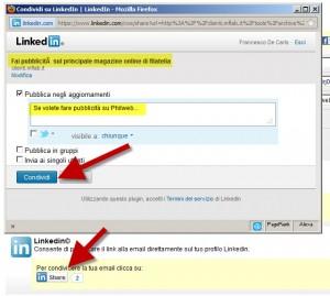 Condividere email su Linkedin