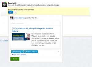 Condividere email su Google Plus