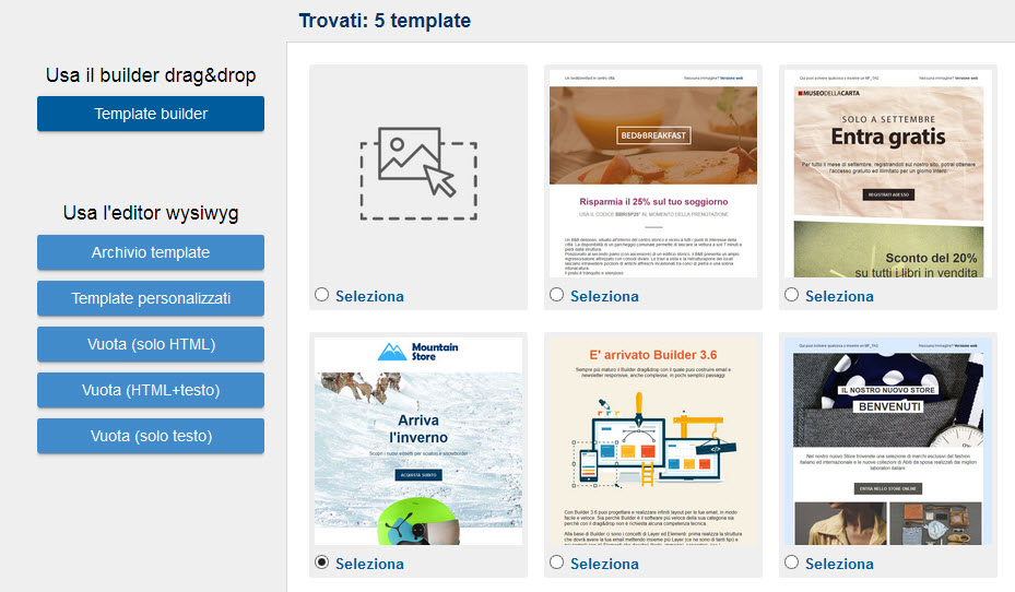Mailforce Builder: tanti nuovi template per le tue email