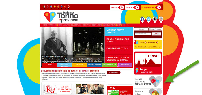 La newsletter del turismo torinese